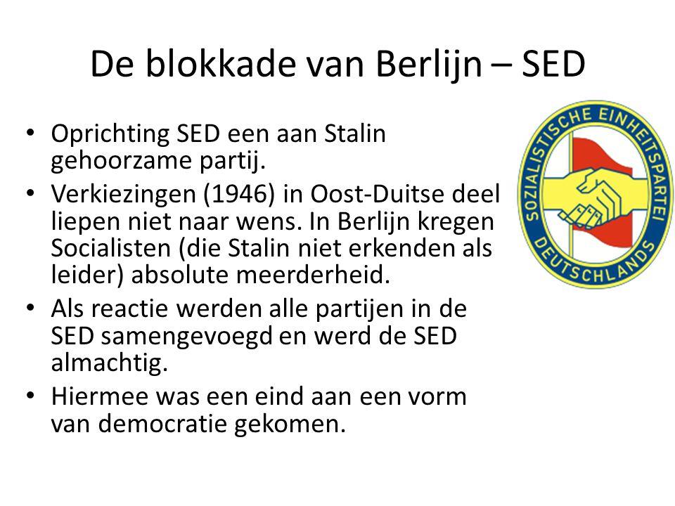 De blokkade van Berlijn – SED