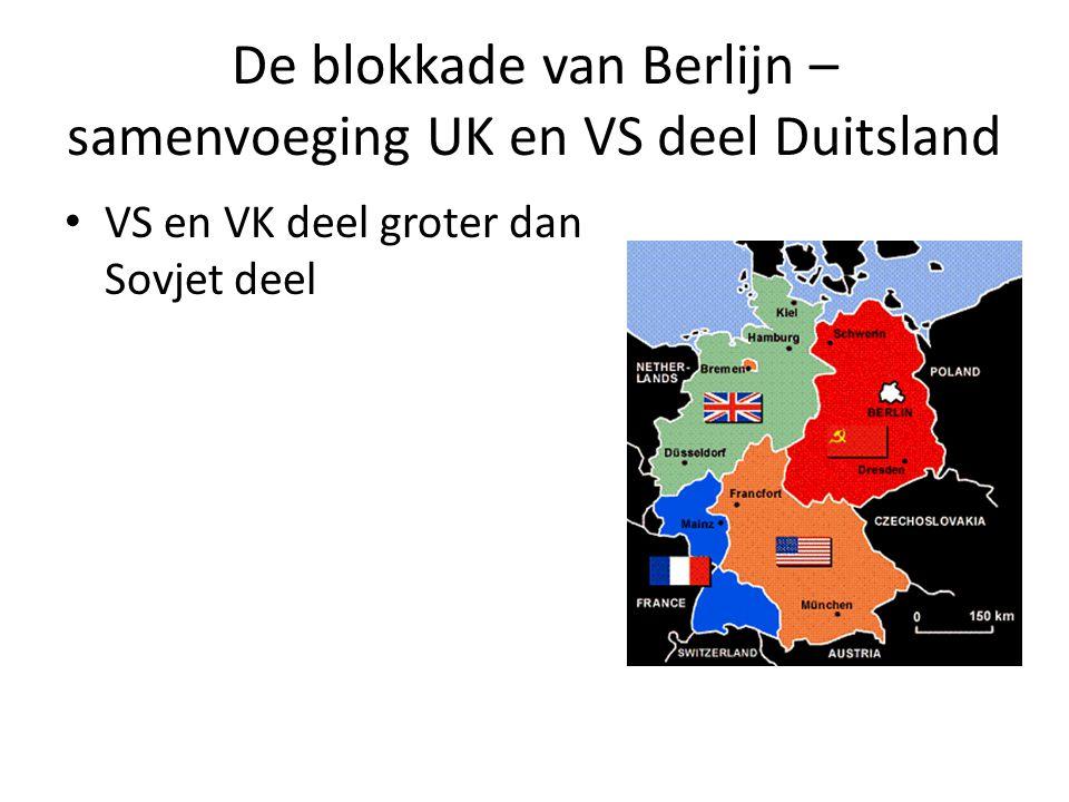De blokkade van Berlijn – samenvoeging UK en VS deel Duitsland