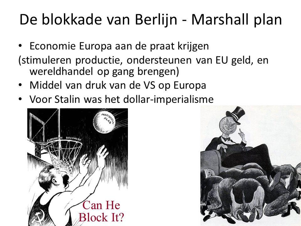 De blokkade van Berlijn - Marshall plan