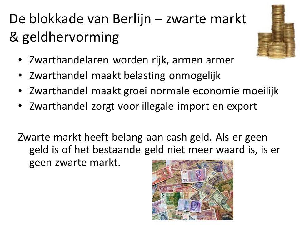 De blokkade van Berlijn – zwarte markt & geldhervorming