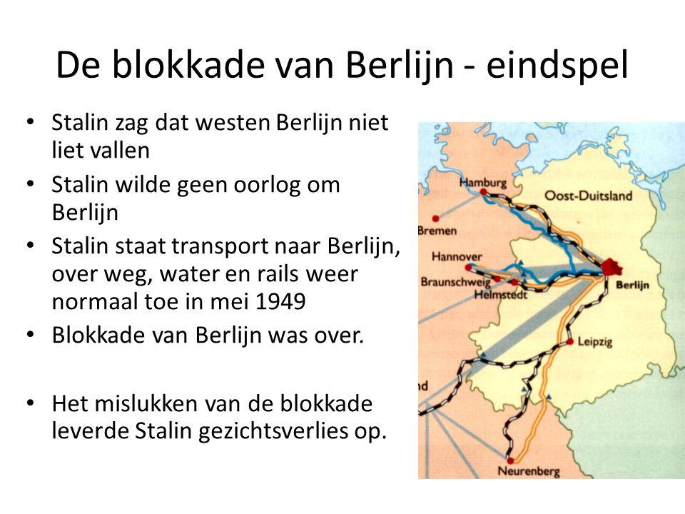 De blokkade van Berlijn - eindspel