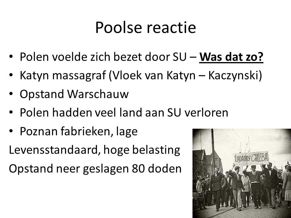 Poolse reactie Polen voelde zich bezet door SU – Was dat zo