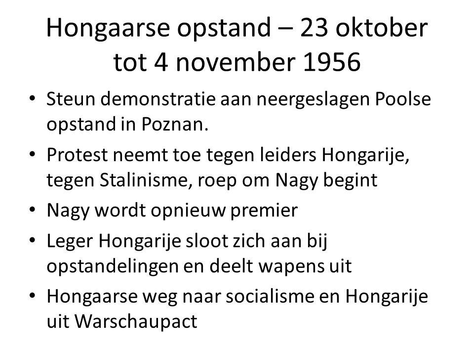 Hongaarse opstand – 23 oktober tot 4 november 1956