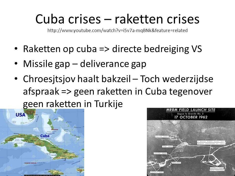 Cuba crises – raketten crises http://www. youtube. com/watch