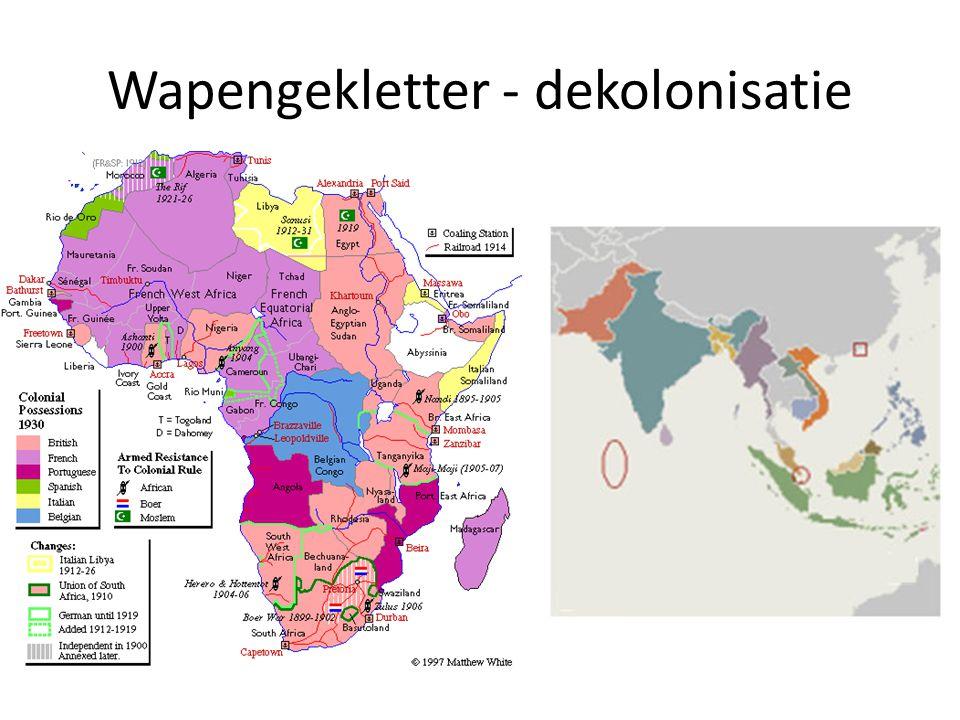 Wapengekletter - dekolonisatie