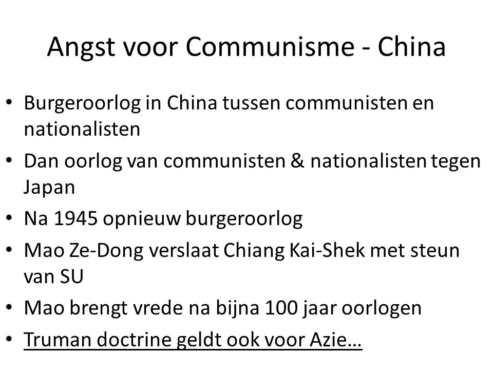 Angst voor Communisme - China