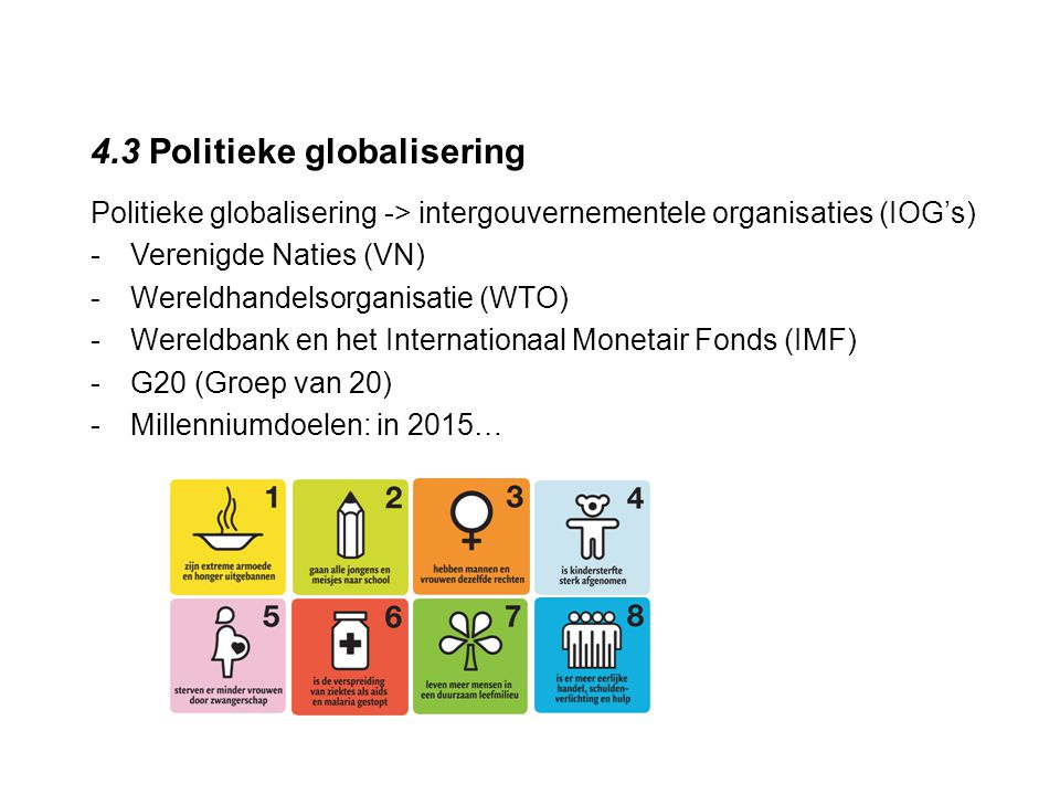 4.3 Politieke globalisering