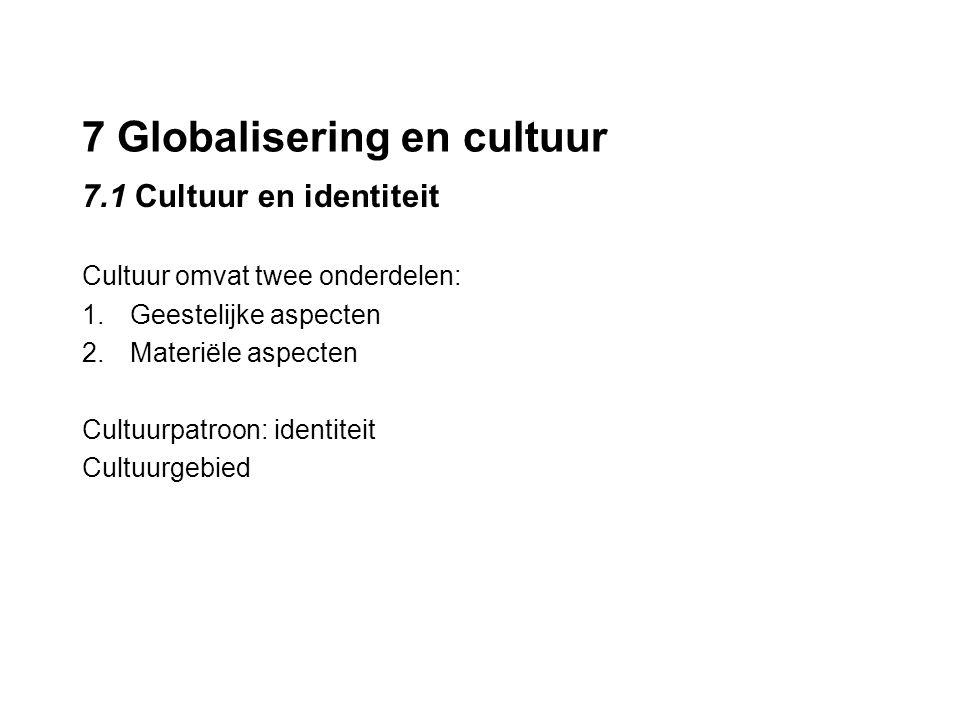 7 Globalisering en cultuur