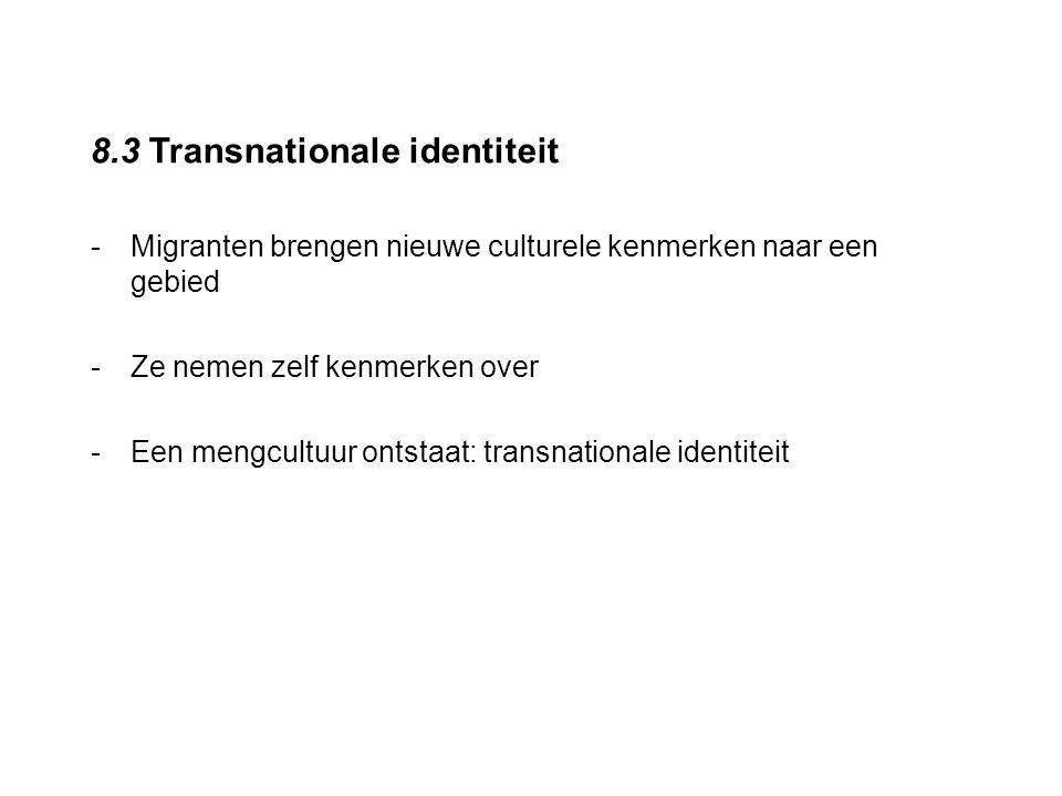 8.3 Transnationale identiteit