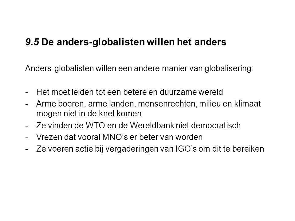 9.5 De anders-globalisten willen het anders