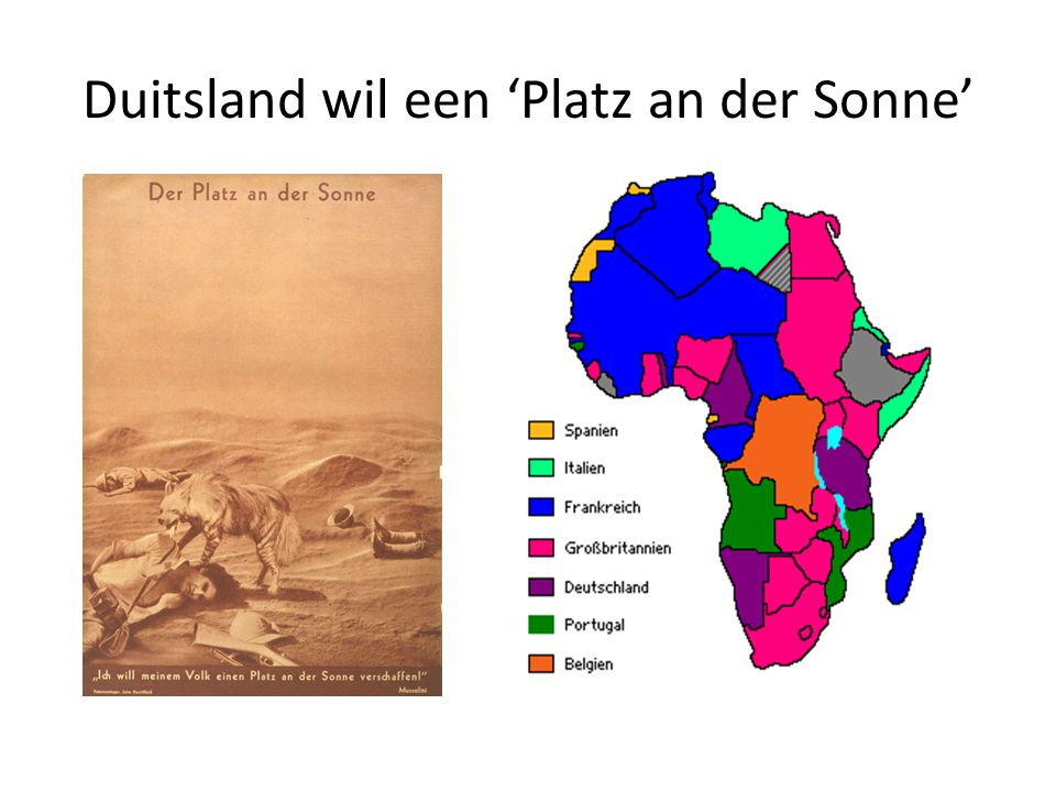 Duitsland wil een 'Platz an der Sonne'