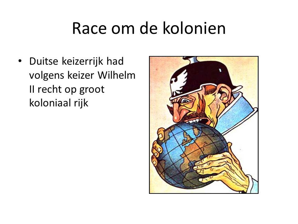 Race om de kolonien Duitse keizerrijk had volgens keizer Wilhelm II recht op groot koloniaal rijk