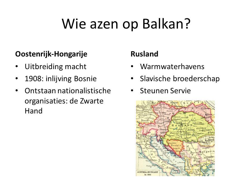 Wie azen op Balkan Oostenrijk-Hongarije Rusland Uitbreiding macht
