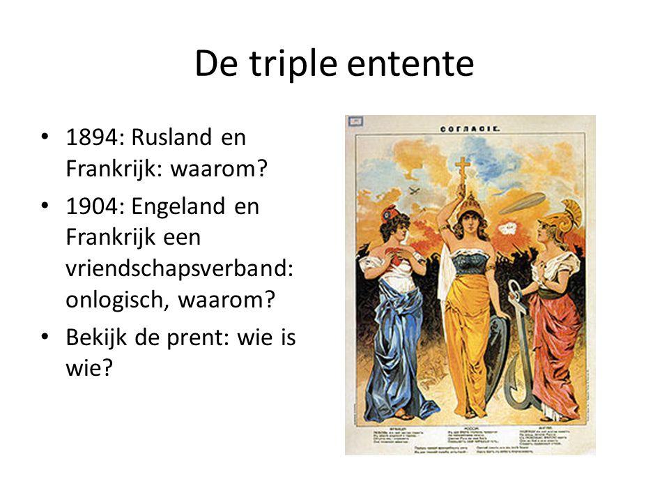 De triple entente 1894: Rusland en Frankrijk: waarom