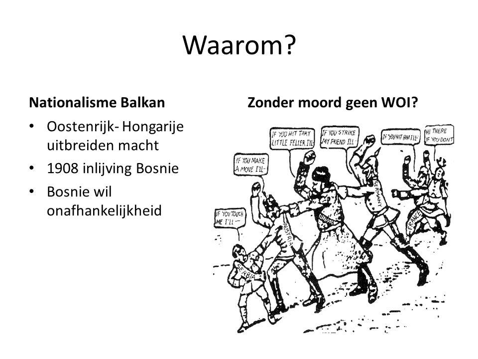 Waarom Nationalisme Balkan Zonder moord geen WOI