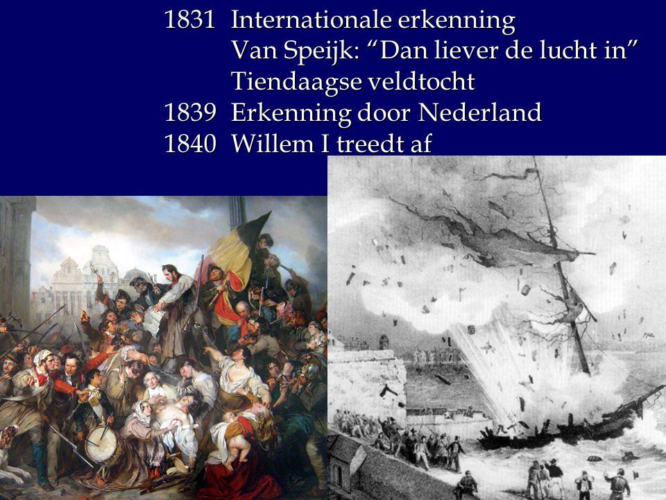 1831 Internationale erkenning
