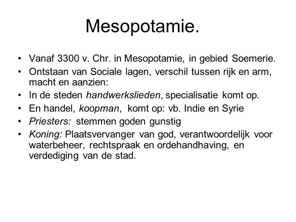 Mesopotamie. Vanaf 3300 v. Chr. in Mesopotamie, in gebied Soemerie.