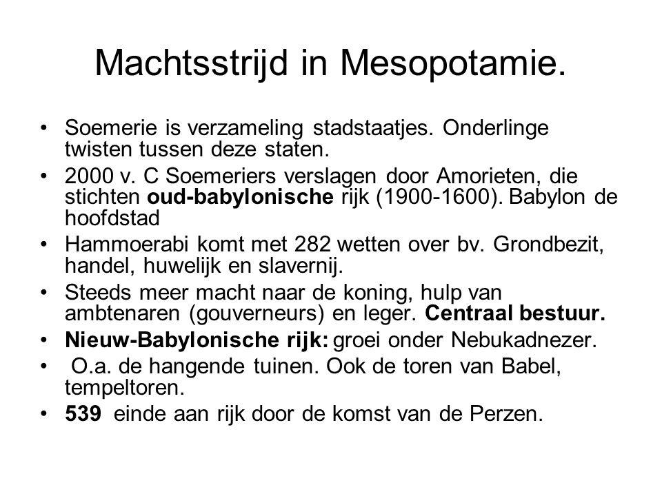 Machtsstrijd in Mesopotamie.