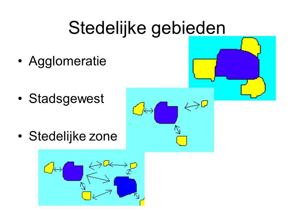 Stedelijke gebieden Agglomeratie Stadsgewest Stedelijke zone