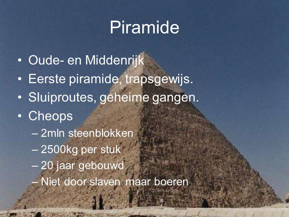 Piramide Oude- en Middenrijk Eerste piramide, trapsgewijs.