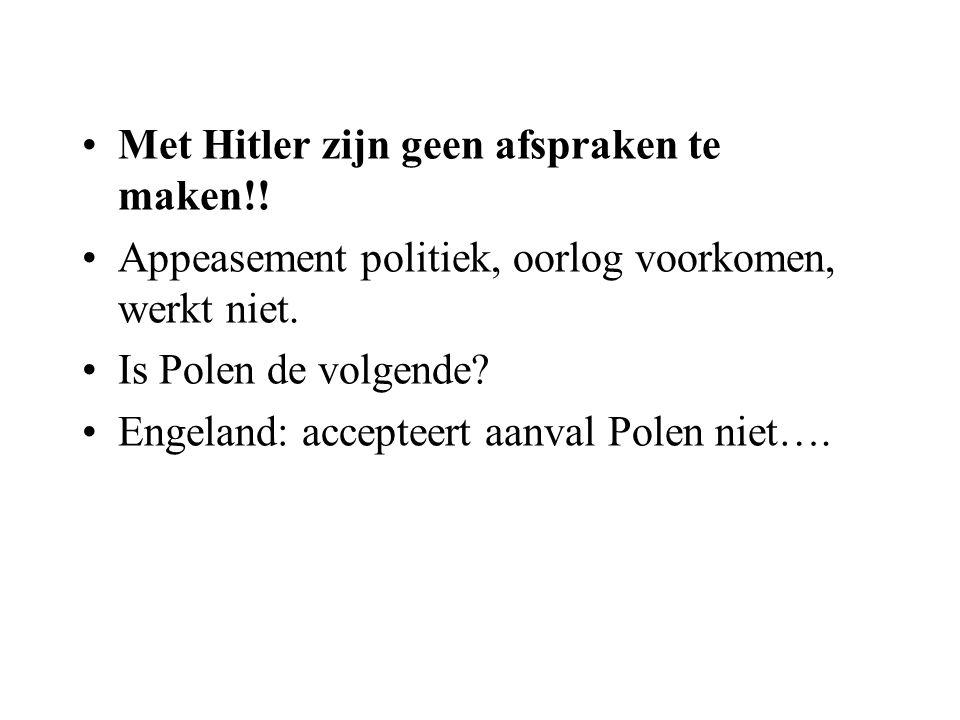 Met Hitler zijn geen afspraken te maken!!