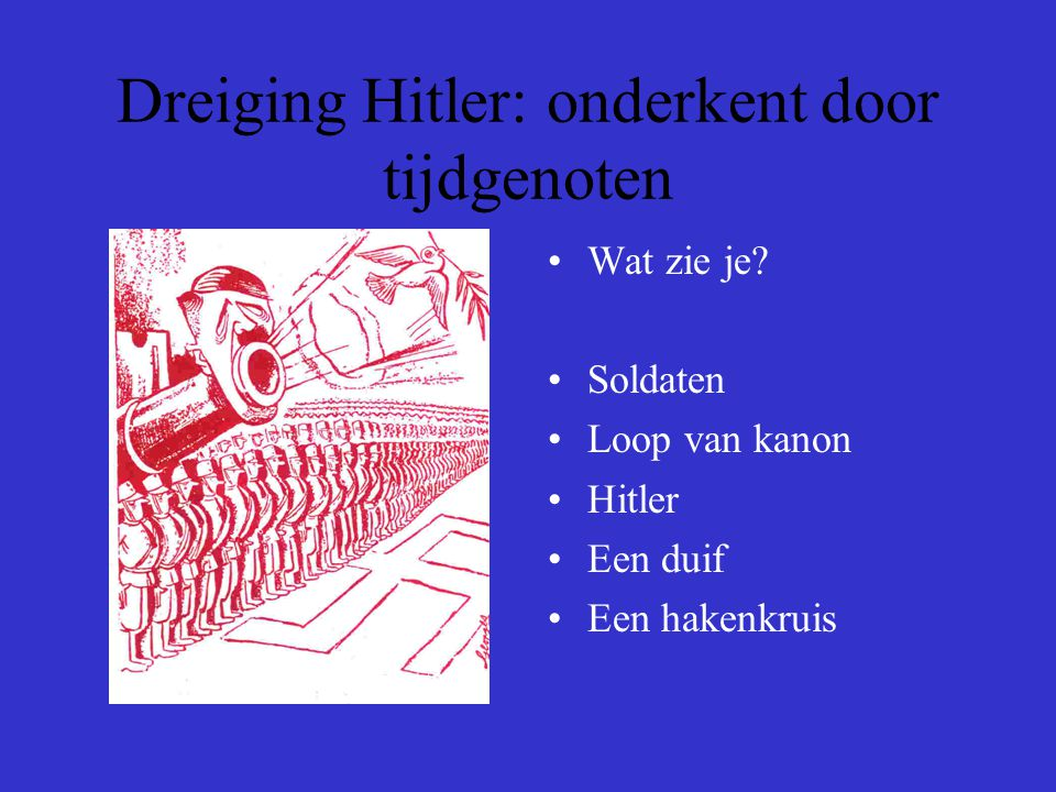 Dreiging Hitler: onderkent door tijdgenoten