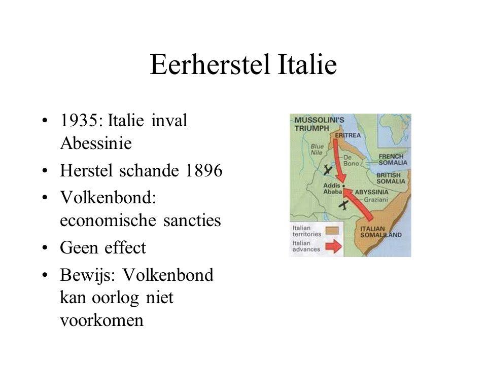 Eerherstel Italie 1935: Italie inval Abessinie Herstel schande 1896