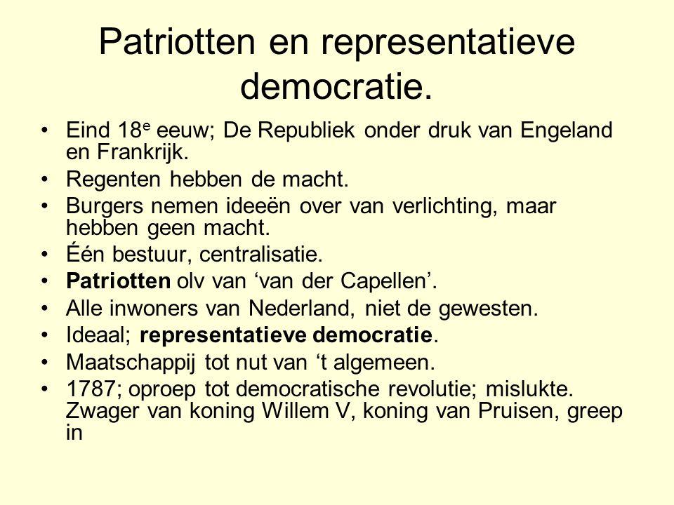 Patriotten en representatieve democratie.