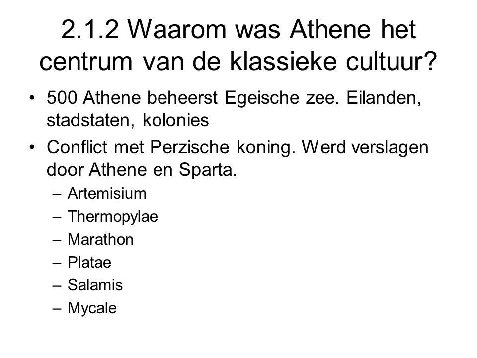 2.1.2 Waarom was Athene het centrum van de klassieke cultuur