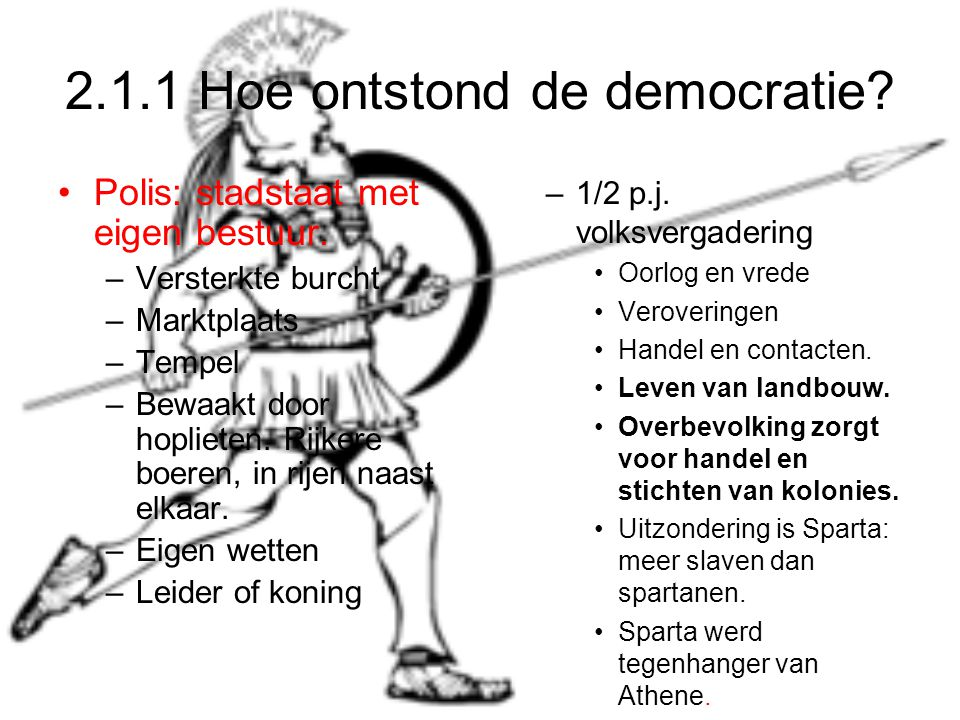2.1.1 Hoe ontstond de democratie