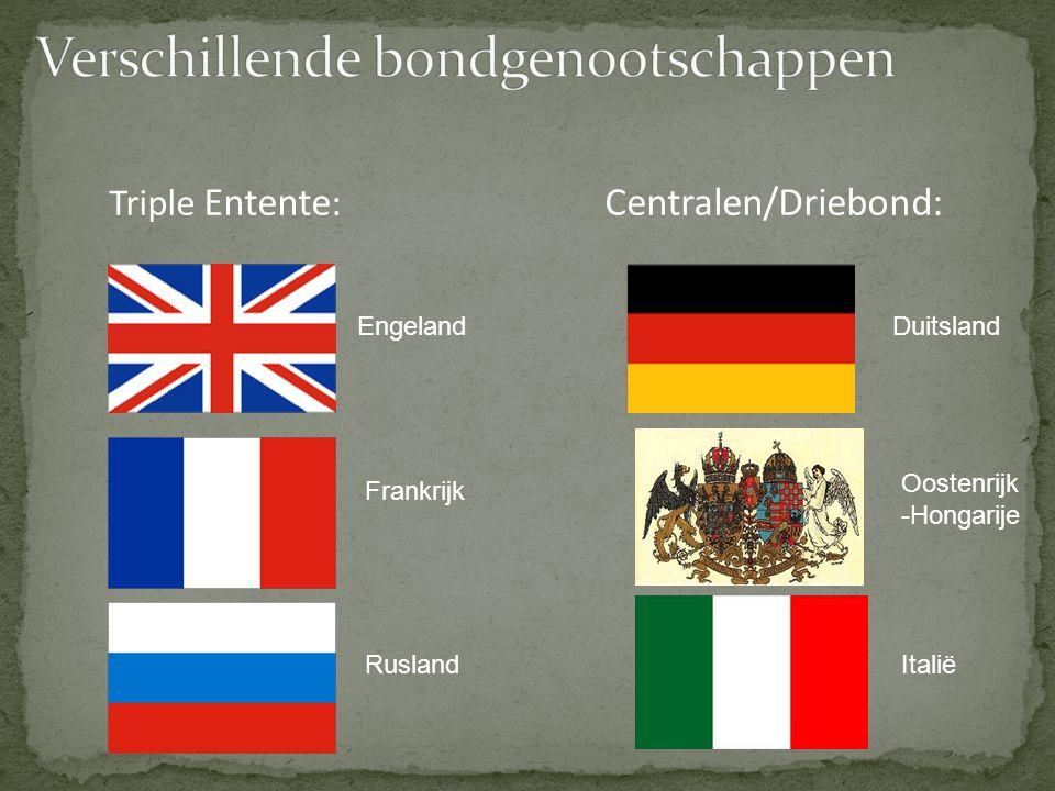 Verschillende bondgenootschappen