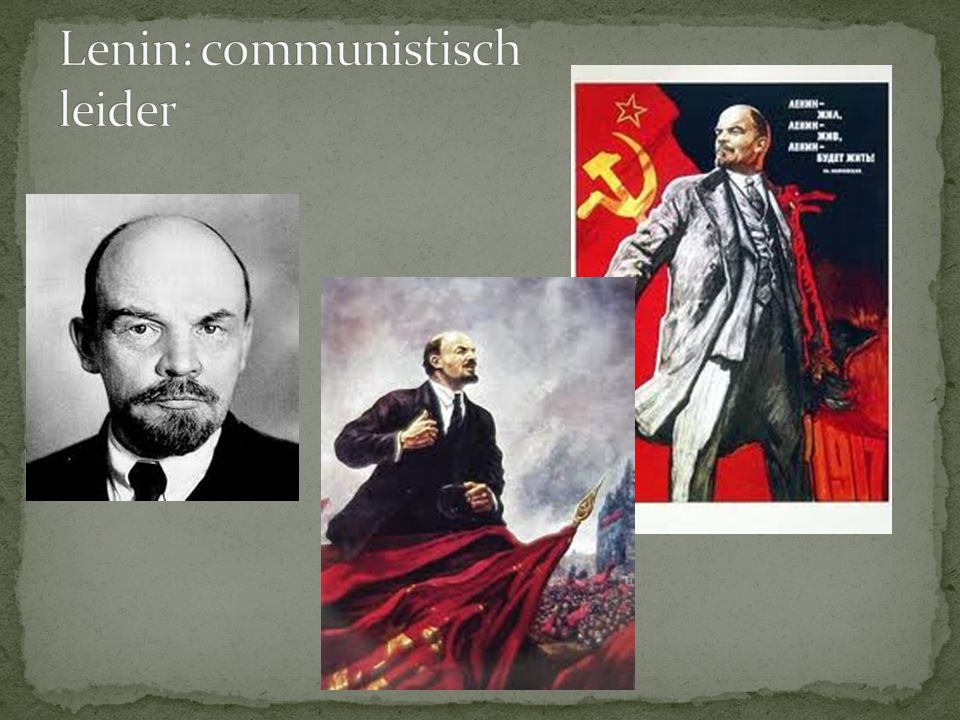 Lenin: communistisch leider