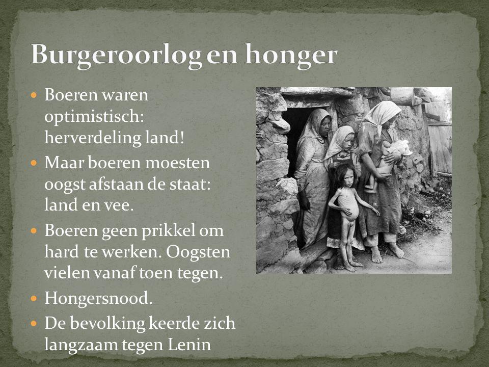 Burgeroorlog en honger