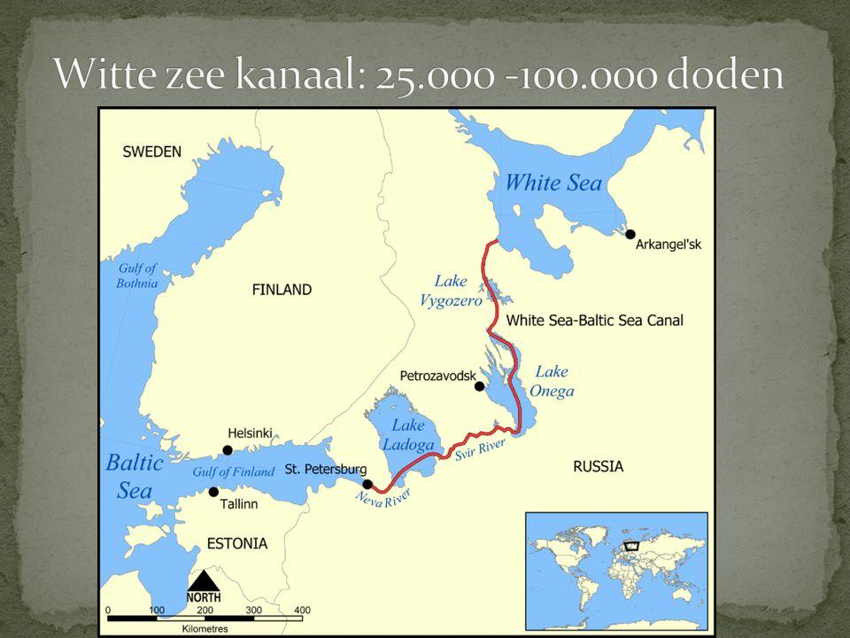 Witte zee kanaal: 25.000 -100.000 doden