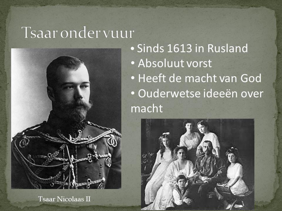 Tsaar onder vuur Absoluut vorst Heeft de macht van God