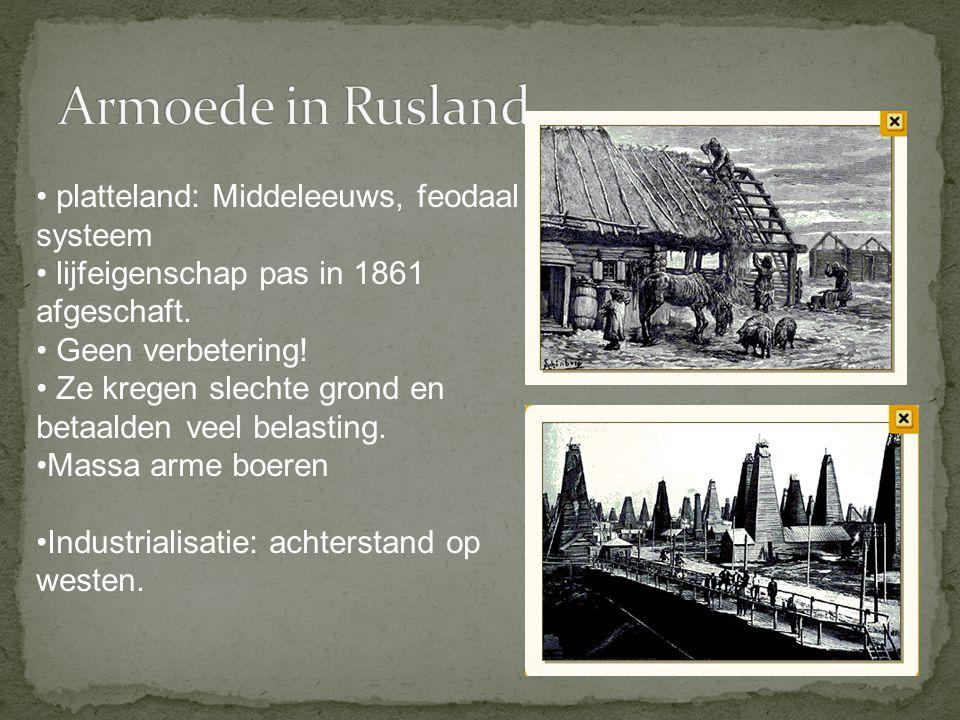 Armoede in Rusland platteland: Middeleeuws, feodaal systeem