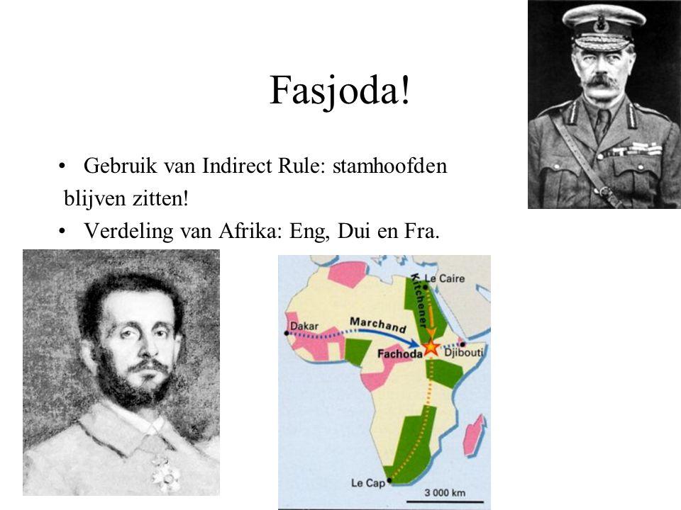 Fasjoda! Gebruik van Indirect Rule: stamhoofden blijven zitten!