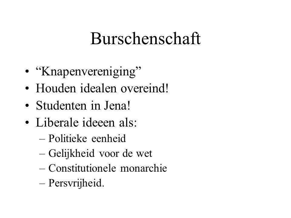 Burschenschaft Knapenvereniging Houden idealen overeind!