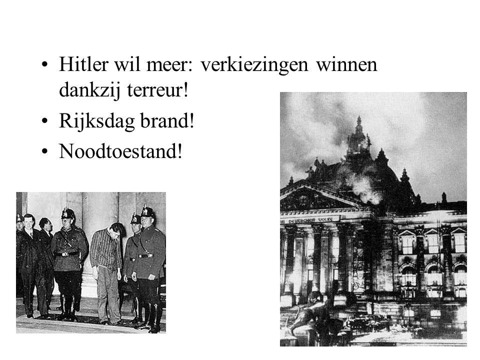 Hitler wil meer: verkiezingen winnen dankzij terreur!