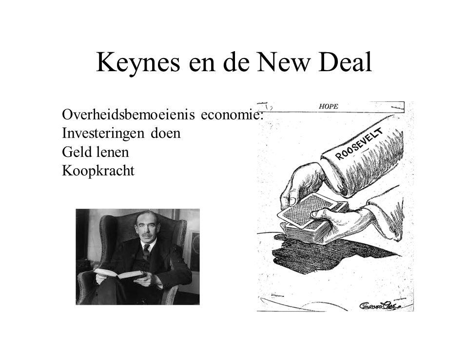 Keynes en de New Deal Overheidsbemoeienis economie: Investeringen doen