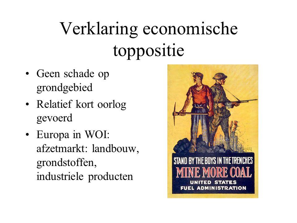 Verklaring economische toppositie