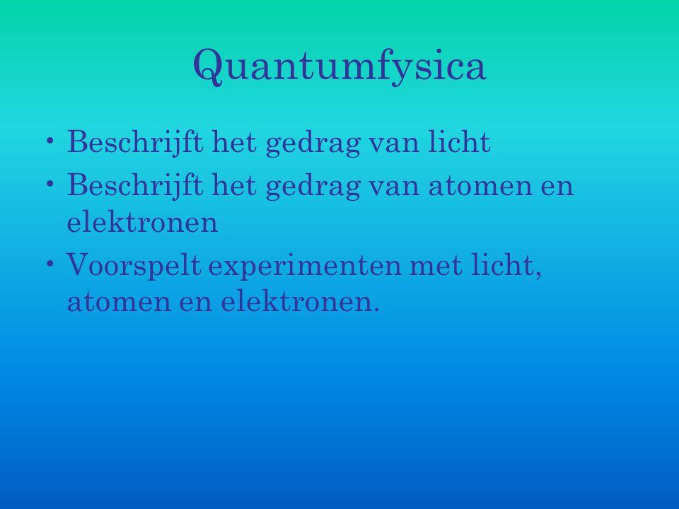 Quantumfysica Beschrijft het gedrag van licht
