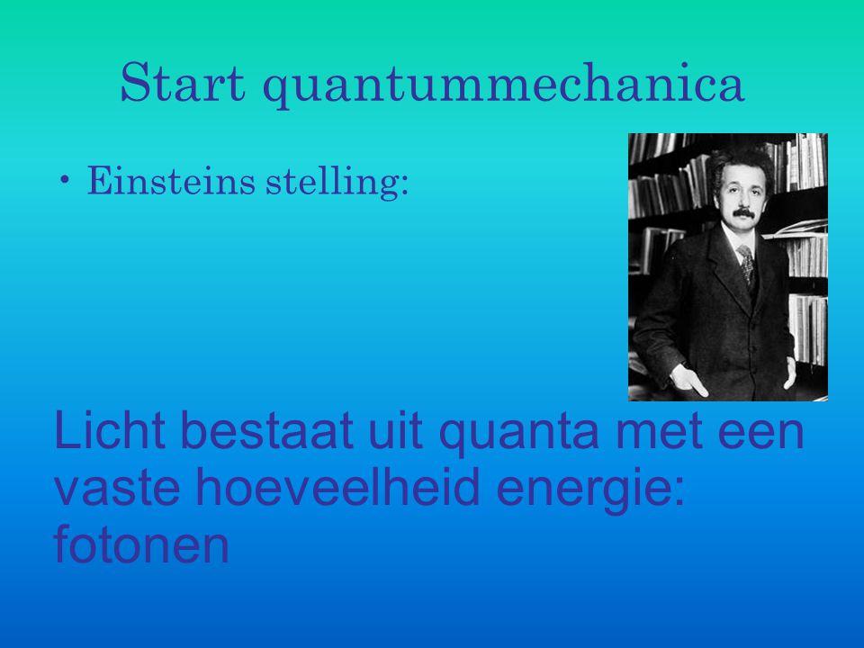 Start quantummechanica