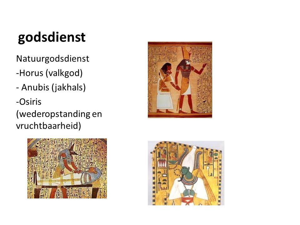 godsdienst Natuurgodsdienst Horus (valkgod) Anubis (jakhals)