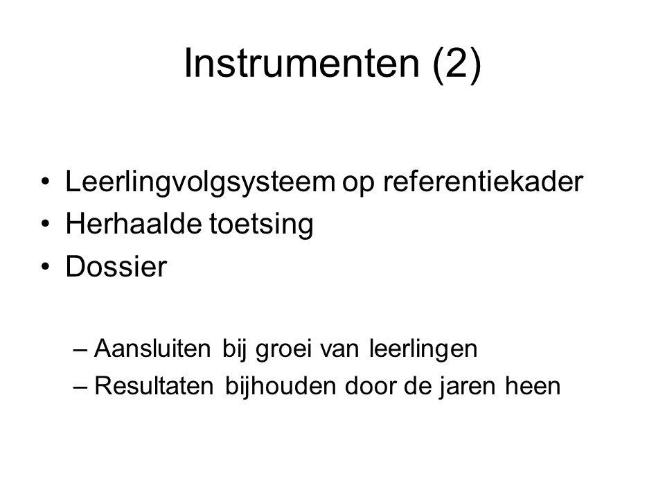 Instrumenten (2) Leerlingvolgsysteem op referentiekader