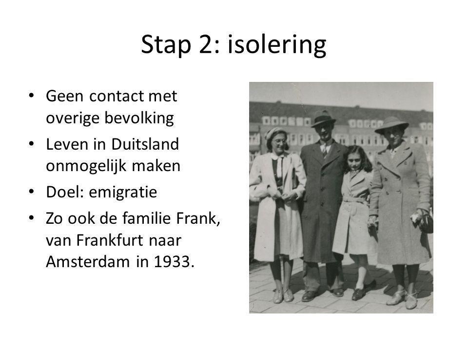 Stap 2: isolering Geen contact met overige bevolking