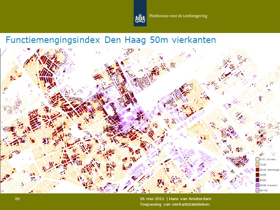 Functiemengingsindex Den Haag 50m vierkanten