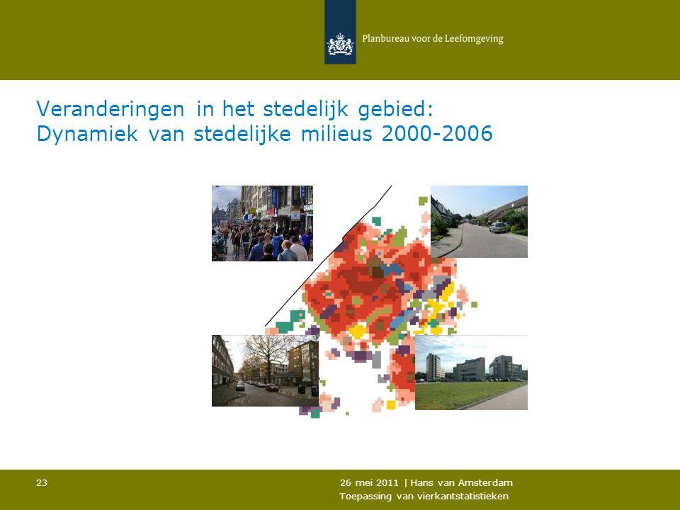 Veranderingen in het stedelijk gebied: Dynamiek van stedelijke milieus 2000-2006
