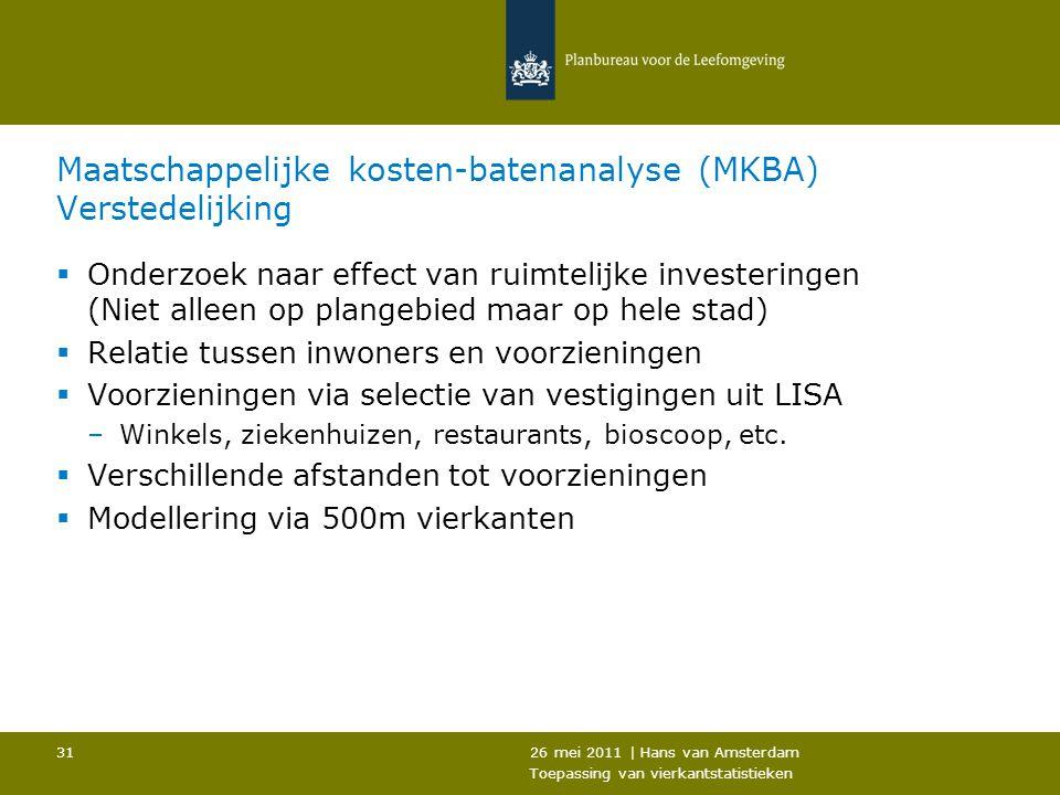 Maatschappelijke kosten-batenanalyse (MKBA) Verstedelijking