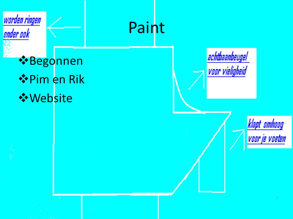Paint Begonnen Pim en Rik Website